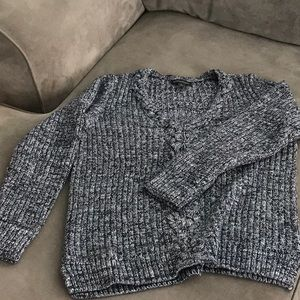 Women's marled cable knit sweater